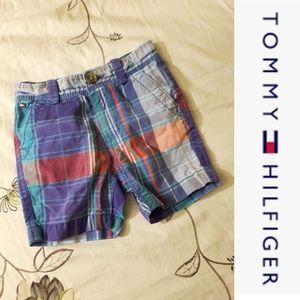 size 12M Tommy Hilfiger plaid shorts